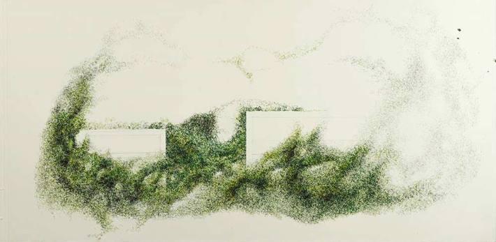 """""""Jardín en movimiento"""". © Ilustración: José Carlos Sanz Belloso."""