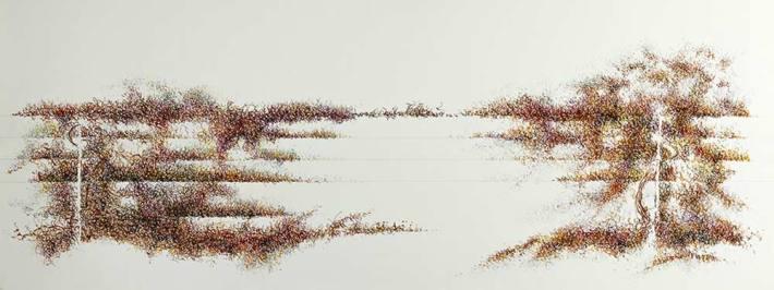 """""""Jardín en movimiento 8"""". © Ilustración: José Carlos Sanz Belloso."""