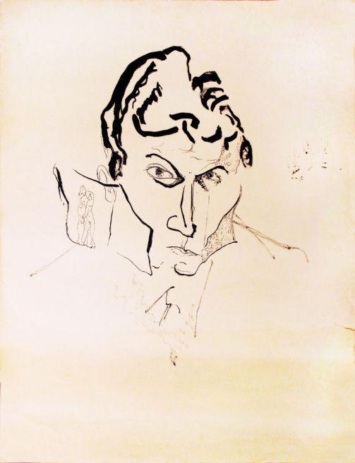 Amable Arias. Autorretrato. De las manitas 1959. Cortesía Maru Rizo.