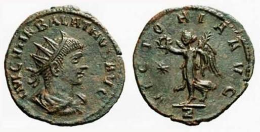 F7. Moneda del rey Vabalato o Atenodoro. Siglo III d.C.
