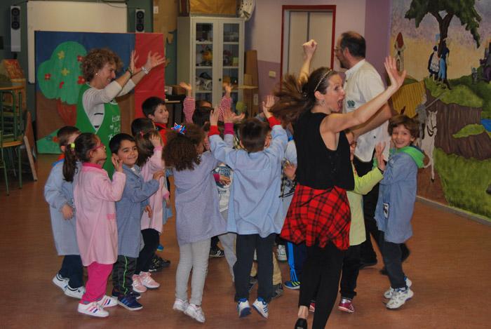 Taller de música en el colegio de Tordesillas.