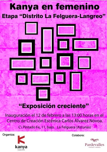 Cartel de la exposición en Asturias