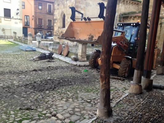 El lunes 6 de febrero comenzaron las obras en la Plaza del Grano.