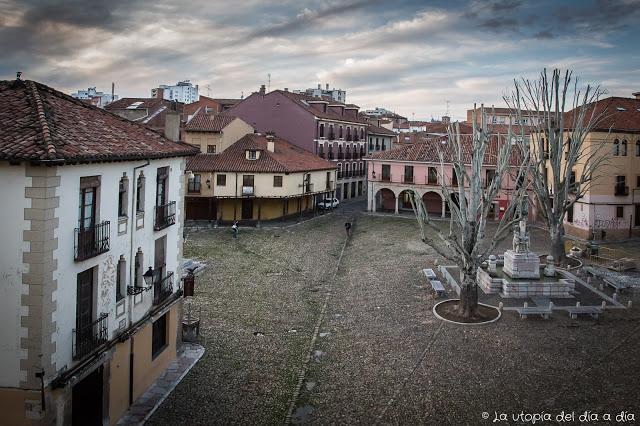 Plaza del Grano en León. Foto: La utopía del día a día.