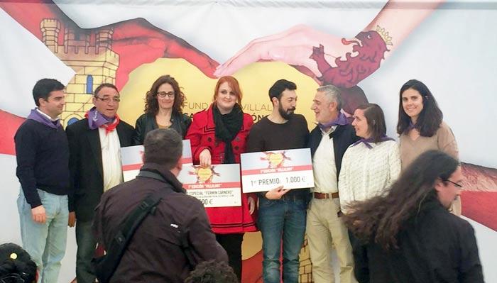 Los artistas premiados en la primera edición de Villalart (2016).