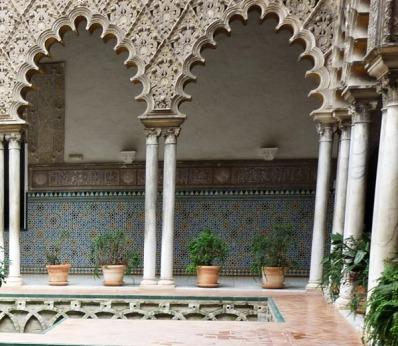 Detalle del patio de las Damas. Reales Alcázares de Sevilla.