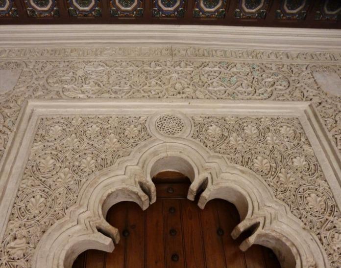 Detalle portada Monasterio de Las Claras de Tordesillas.