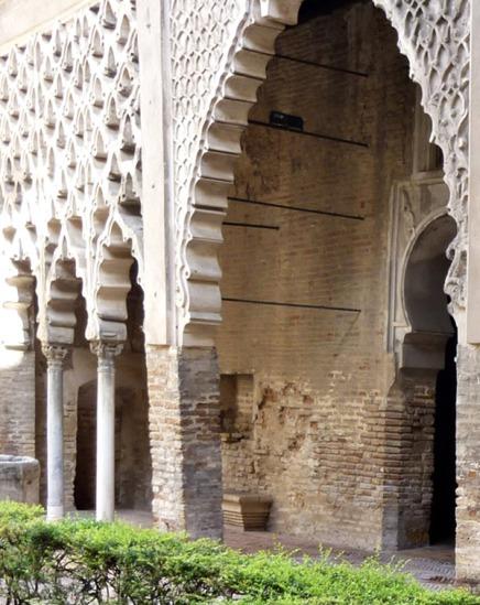 Detalle del patio del Yeso. Reales Alcázares de Sevilla.
