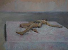 """Javier Álvarez Peón. """"Desnudo 1"""". Acrílico sobre tabla. 81 x 60 cm."""