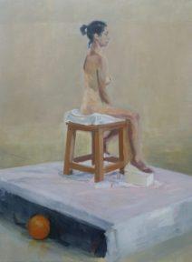 """Jorge Solana. """"África"""". Óleo sobre lienzo. 81 x 60cm."""