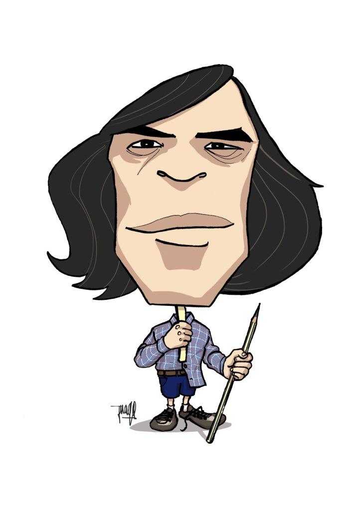 Mircea Cartarescu - mendebil - caricatura 96ppp - juaqoolmo