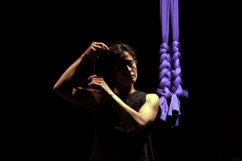 La bailarina Paz Brozas. Fotografía: Julia G. Liébana.