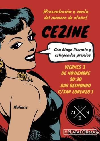 Presentación de Cezine el viernes 3.
