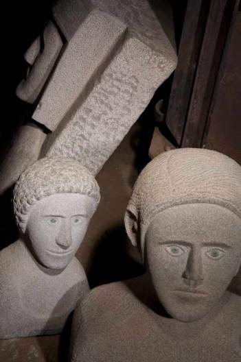 Esculturas de Jonás Pérez. © Fotografía: Amando Casado.