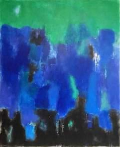 """Pintura de Luis Medina. Serie """"Texturas"""". Blue sea."""