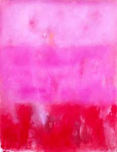 "Pintura de Luis Medina. Serie ""Texturas"". Field in rose."
