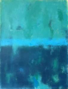 """Pintura de Luis Medina. Serie """"Texturas"""". Sea III."""