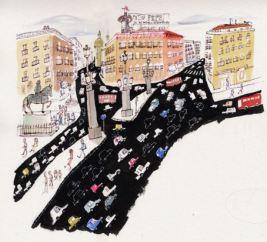Ilustración de Javier Zabala, serie 'Ciudades'.