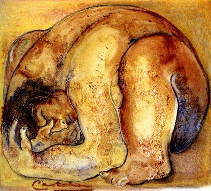 Dibujo de la artista y escultora Castorina.