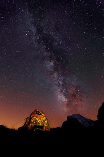 Noche en Collado Ronzón.