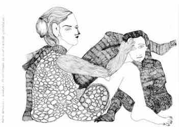 """""""La pintora y la modelo"""", obra de Reme Remedios."""