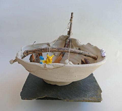 """""""Deconstrucción"""", obra de Bea Romarty."""