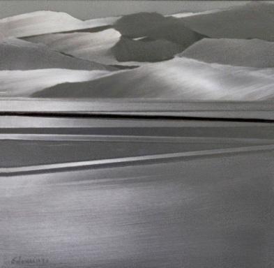 Encarnación Domingo_Desde la orilla, mixta s.alumminio 23 x 23 cm