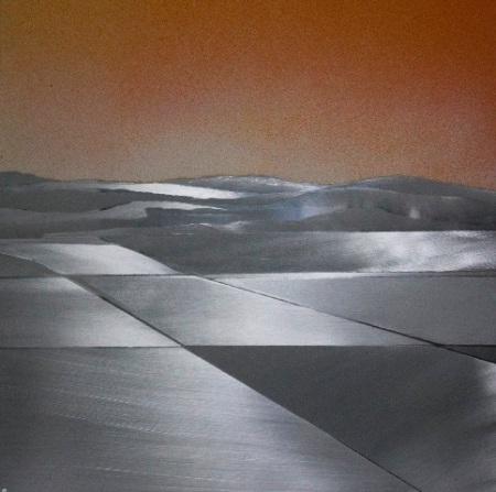 Encarnación Domingo_Marina naranja, mixta 35 x 35 cm.