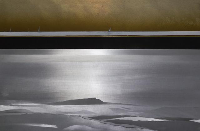 Encarnación Domingo_Veleros, mixta s. aluminio 40 x 37 cm.