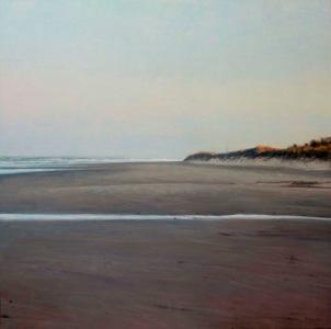 130X130cm Amanece en la playa Oleo:lienzo
