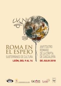 """Cartel """"Roma en el Espejo 2018""""."""