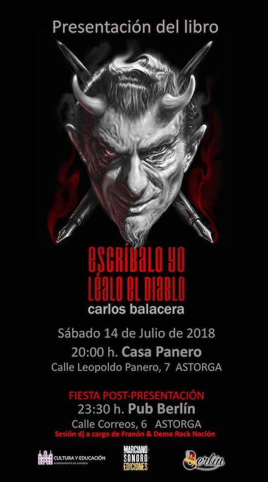 Cartel Presentación Carlos Balacera Astorgakokotriso