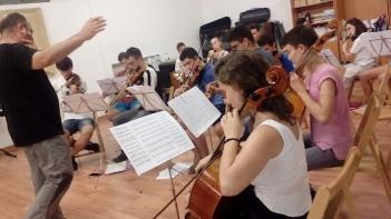 Juventudes Musicales durante los ensayos.