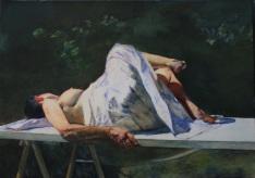 3. Retrato de Vecan, óleo sobre papel, 70 x 50 cm