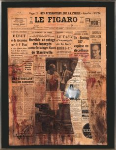 Wolf Vostell, Dé-Coll/age, Le Figaro, 1964 Colección Wolf y Mercedes Vostell. Museo Vostell Malpartida. Junta de Extremadura