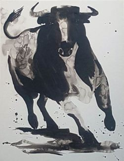 'Ink bull'. Carlos Rodríguez.