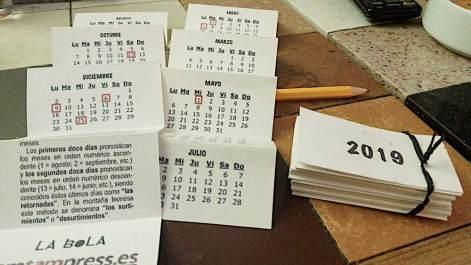 Calendario 2019 TAM TAM PRESS-LA BOLA 2