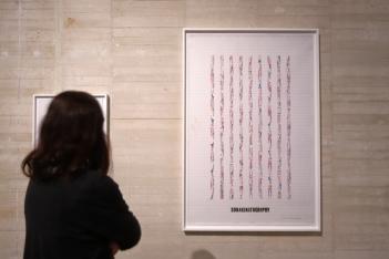 Channa Horwitz. El factor ocho. Vista de la exposición MUSAC, 2019