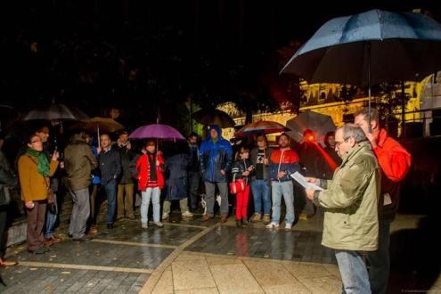 Ágora de Poesía en un viernes de lluvia.