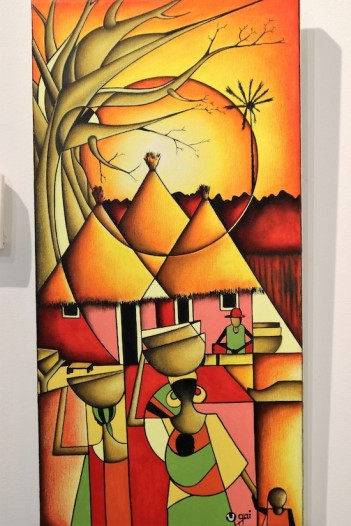 Exposición 'Vida', de Yusupha Gai. Fotografía: Juan A. Berzal.