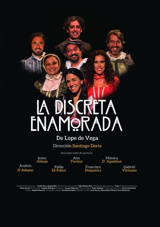 La discreta enamorada de la compañía argentina de Teatro Clásico A priori Gestión Teatral