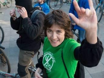 Araceli Corbo en la Bici-Crítica. Foto: Vicente García.