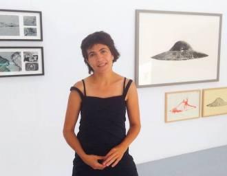 Araceli Corbo en la galería Ardora Calvo.