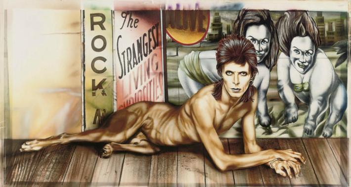 Así era el dibujo original del belga Guy Peellandert para la portada del disco de Bowie.jpg