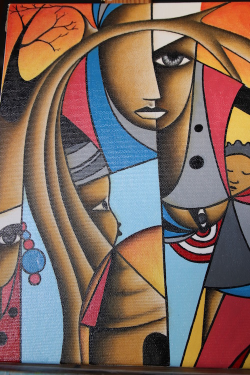 Obra del pintor gambiano Yusupha Gai.
