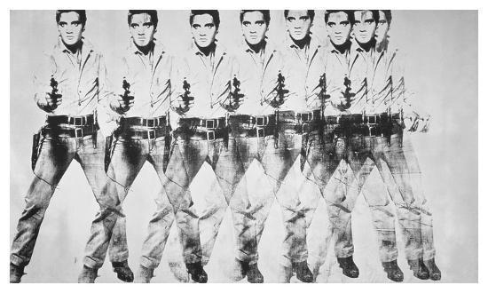 Al igual que la música rock, casi todas las artes (como esta obra de Warhol) han usado la repetición para enfatizar el mensaje.jpg