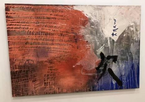 """""""Gran lectura china"""", obra de Cristina Ibáñez. Mixta sobre tela."""