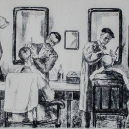 José Gutiérrez Solana. 'La Barbería del Pueblo'.