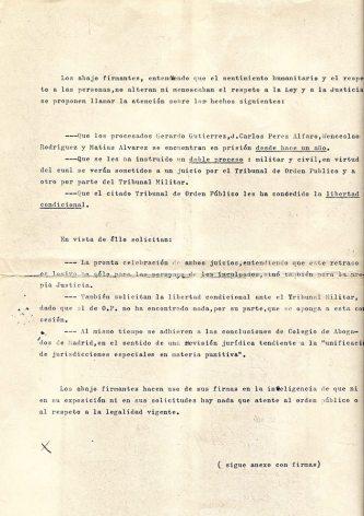 Petición de libertad condicional (1970).