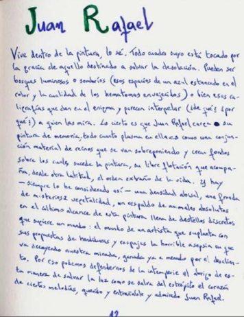 Página de la libreta de Tomás Sanchez Santiago.